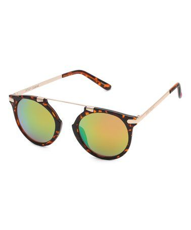 Look at this #zulilyfind! Tortoise Browline Sunglasses #zulilyfinds