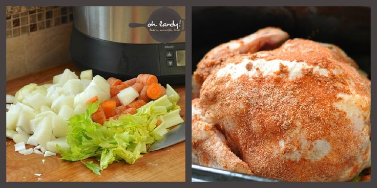 Simply delicious crockpot recipe for a whole chicken, with a nice spice rub recipe