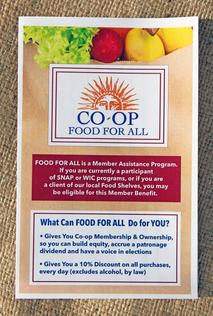 What Can FOOD FOR ALL Do for YOU?Food For All is a Member Assistance Program. If you are currently a participant of SNAP or WIC programs, Home Heating Assistance, or if you are a client of our local Food Shelves, you may be eligible for this [...]