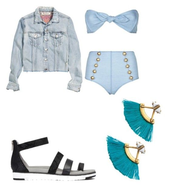 """plaja"" by cosmina-styles-alina on Polyvore featuring Lisa Marie Fernandez, H&M and Stella & Dot"