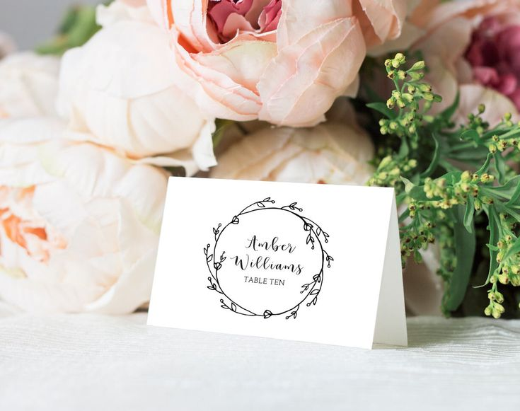 Excited to share the latest addition to my #etsy shop: Wedding Name Cards, Editable Wedding Place Cards Template, Printable Wedding Place Cards, Name Cards Wedding Seating, PDF Instant Download