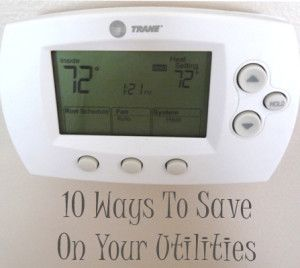 10 Ways to save on your utilities