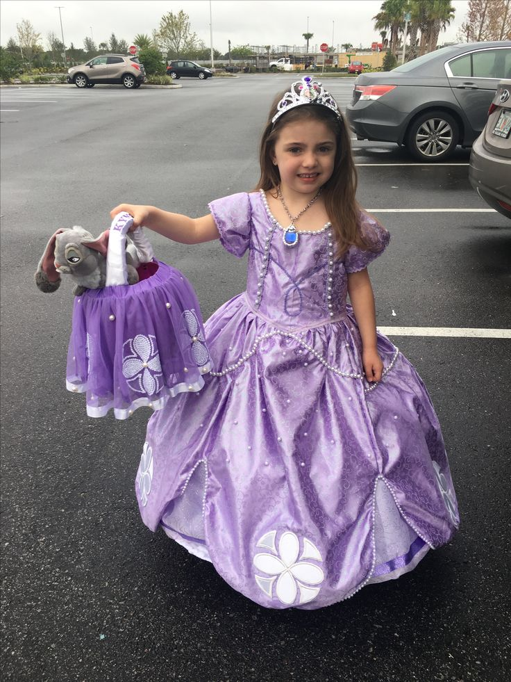 Sofia the first and Halloween basket First birthday