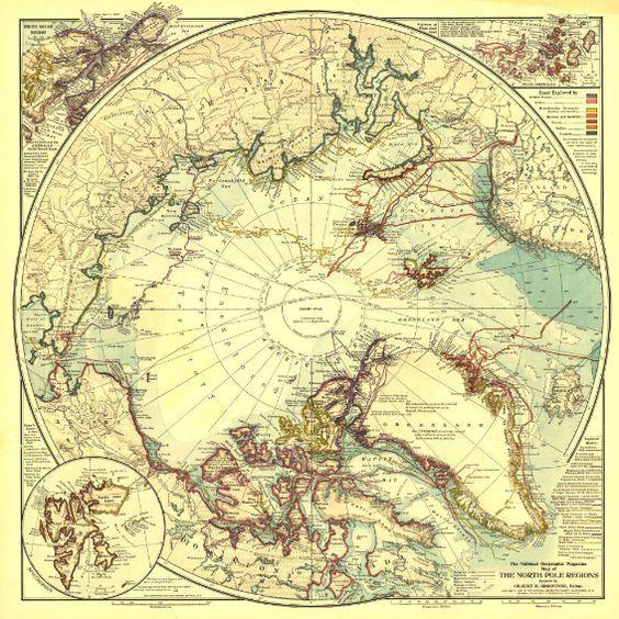 Mejores 15 imgenes de map it out en pinterest mapas antiguos national geographic north pole regions map 1907 gumiabroncs Images
