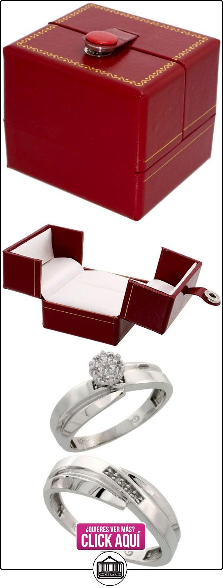 Revoni - Anillo de compromiso de oro blanco  ✿ Joyas para hombres especiales - lujo ✿ ▬► Ver oferta: http://comprar.io/goto/B005NW4K7Y
