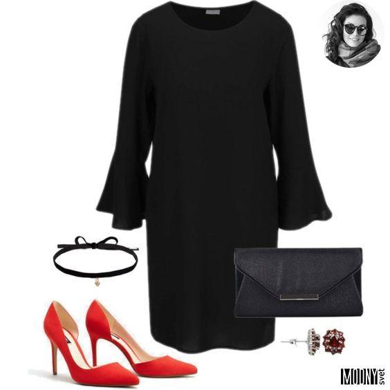 čierne šaty s volánmi – MODNYSVET