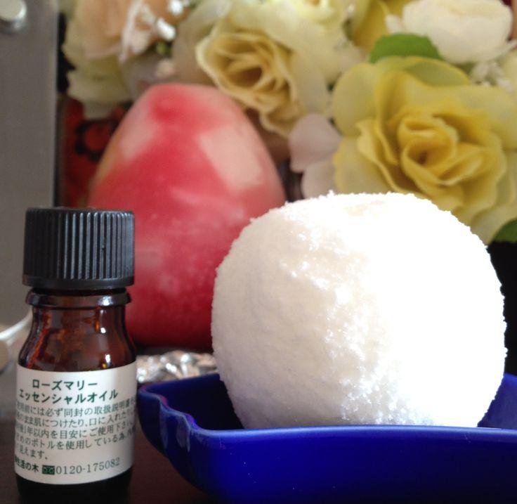 手作り | hanasango 天然塩 60g (海水塩でOK 食卓塩はNG) ・重曹 60g ・クエン酸 20g ・精油 1-5滴(子供さんがいる場合2滴まで) ・ビニール袋