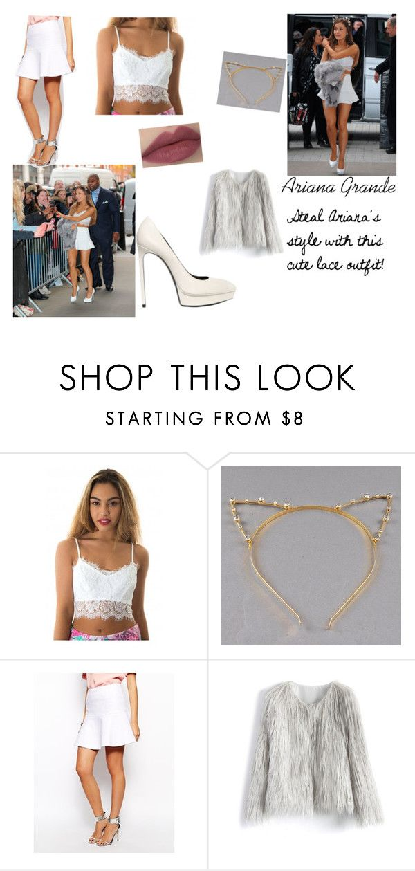 """Ariana Grande at BBC Radio 1 : Steal her Style Collection"" by lidage on Polyvore featuring Chicwish, Ted Baker, lace, followme, ArianaGrande, Stealherstyle and lacelook"