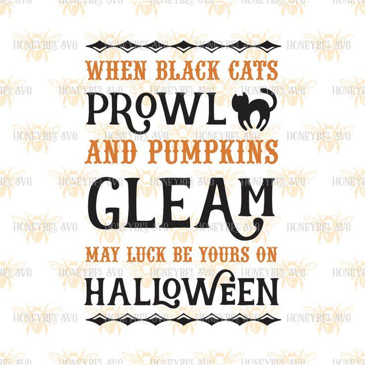When Black Cats Prowl svg Halloween svg Fall svg Pumpkin svg Black Cat svg…