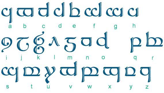 L'alphabet des Elfes