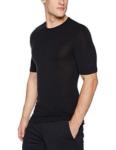 7764cbcc7 New Icebreaker Merino Men's 175 Everyday Short Sleeve Crewe Base Layer Tops,  XX-Large, Black Mens Fashion Clothing. [$36] from top store nanaclothing