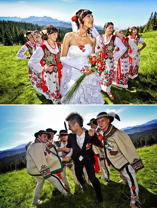 Polish wedding: i love this, tho I'm not sure I would go this far. @ajmokrzan