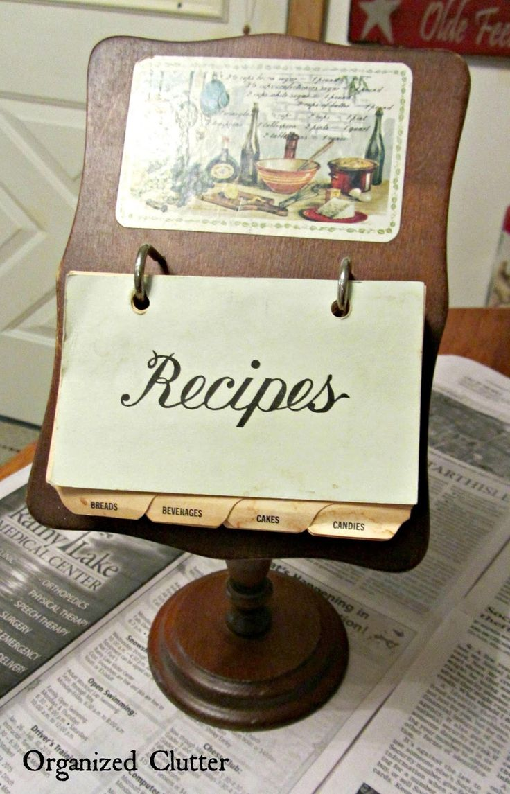 Best 25+ Recipe card holders ideas on Pinterest | Recipe ...