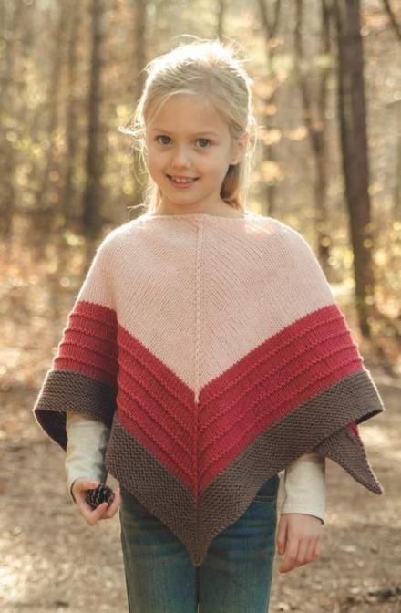 Knitting Patterns Free Poncho Kids Little Girls 23 Ideas # ...