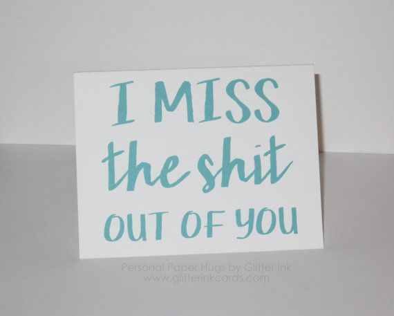 I miss you card  Long distance Relationship by PersonalPaperHugs