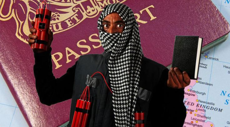 TERRORISTS who plan to cause even more carnage on the streets of Great Britain have promised to not leave any forms of identification next to their bodies when police marksmen shoot them dead, it has been reported.   #British government #ID #Identification #MI5 #passports #Terrorists