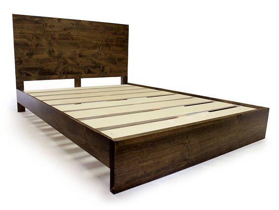 Bedroom Wood Simple Wood Platform Bed Frame And Headboard Simple