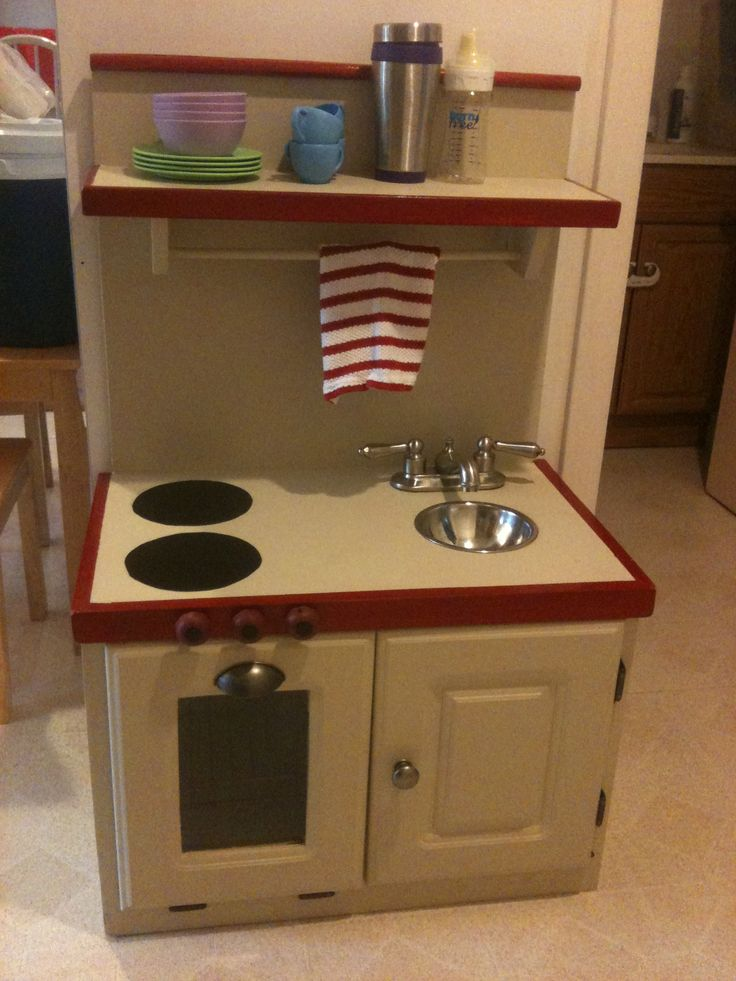 Currently obsessed with making V an upcycled play kitchen.