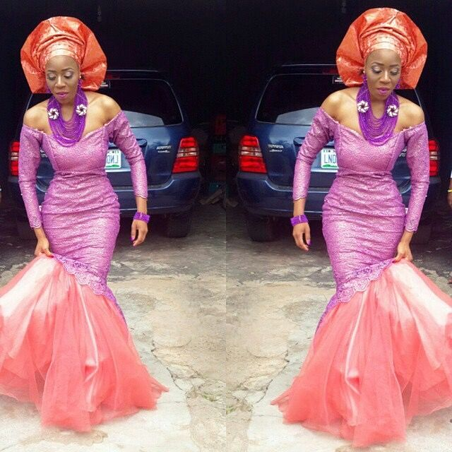1000 images about nigerian wedding top popular ore - Violet and orange combination ...