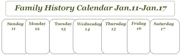 Carolina Girl Genealogy  : This Week On My Family History Calendar