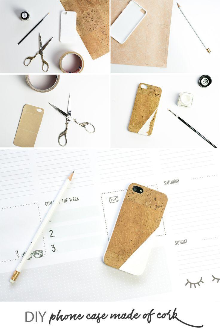 DIY Handyhülle aus Kork | Do it yourself mobile phone case made of cork | Basteln | crafting | Geschenke | Geschenkidee | nachhaltig | natürlich | gift idea | Telefon | selbstgemacht | crafts | office | Arbeitsplatz