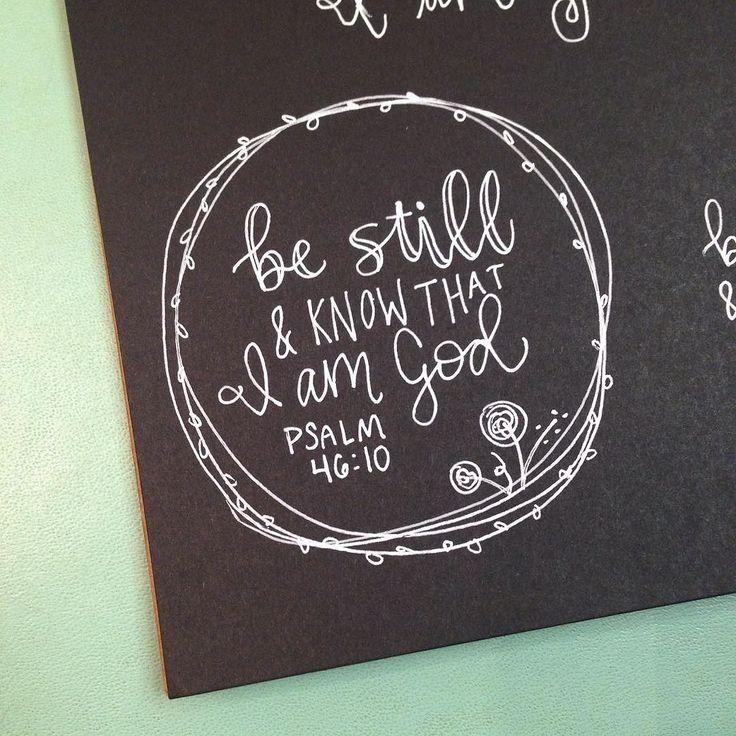 Ein Vers für RELAX | Psalm 46:10 Sei still. Beruhige dich. Hör auf dir Sorgen zu machen. Entspannen. Gott …   – Postcards