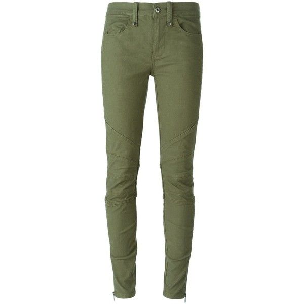Diesel Slim Trousers ($112) ❤ liked on Polyvore featuring pants, bottoms, trousers, pantaloni, skinny jeans, green, denim skinny jeans, skinny jeans pants, slim fit skinny jeans and green pants