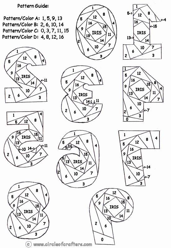 free iris paper folding patterns | Iris Folding @ CircleOfCrafters.com: Number Pattern