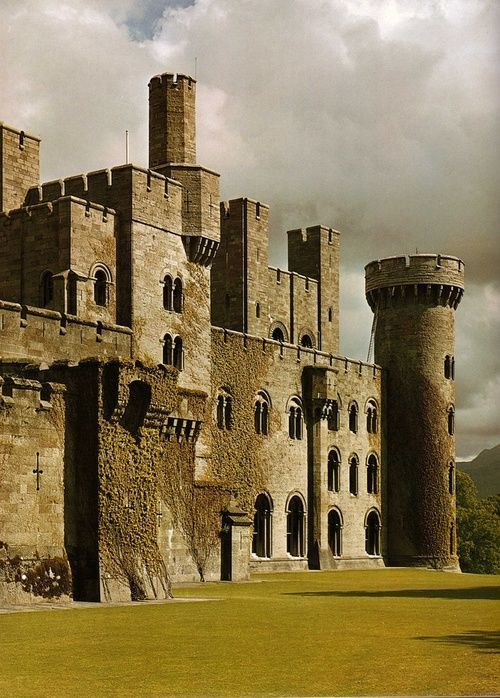 "NOT ""Medieval, Penrhyn Castle, Gwynedd, Wale"" Nope.19th century. Not everything with turrets is medieval!"