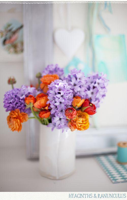 orange & purple: Spring Flowers, Colors Combos, Purple Flowers, Colors Combinations, Bouquets, Colors Schemes, Fresh Flowers, Orange Flowers, Cut Flowers