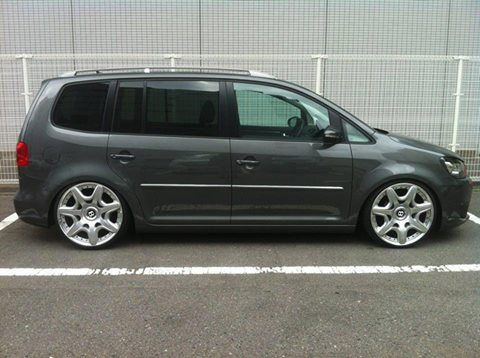 "VW Touran with 20"" Bentley GT wheels"
