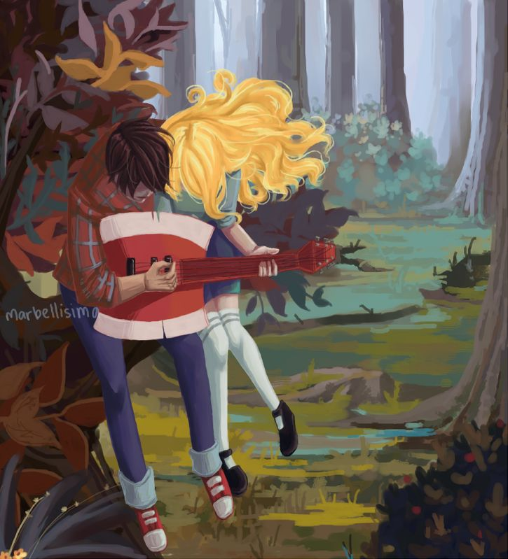 Marshall Lee and Fiona, in the forset. There so cute TOGETHER! ;)