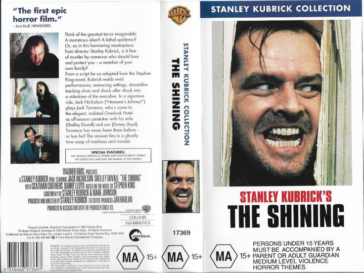 THE SHINING A STANLEY KUBRICK FILM JACK NICHOLSON VHS PAL