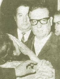 Salvador Allende Gossens (Spanish pronunciation: [salbaˈðoɾ aˈʝende ˈɣosens]; 26 June 1908 – 11 September 1973) was a Chilean physician and politician, known as the first Marxist to become president of a Latin American country through open elections.