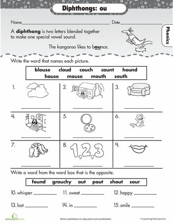 53 Best Diphthongs Images On Pinterest Word Study Word