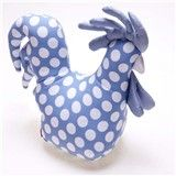 Spotty chicken doorstop