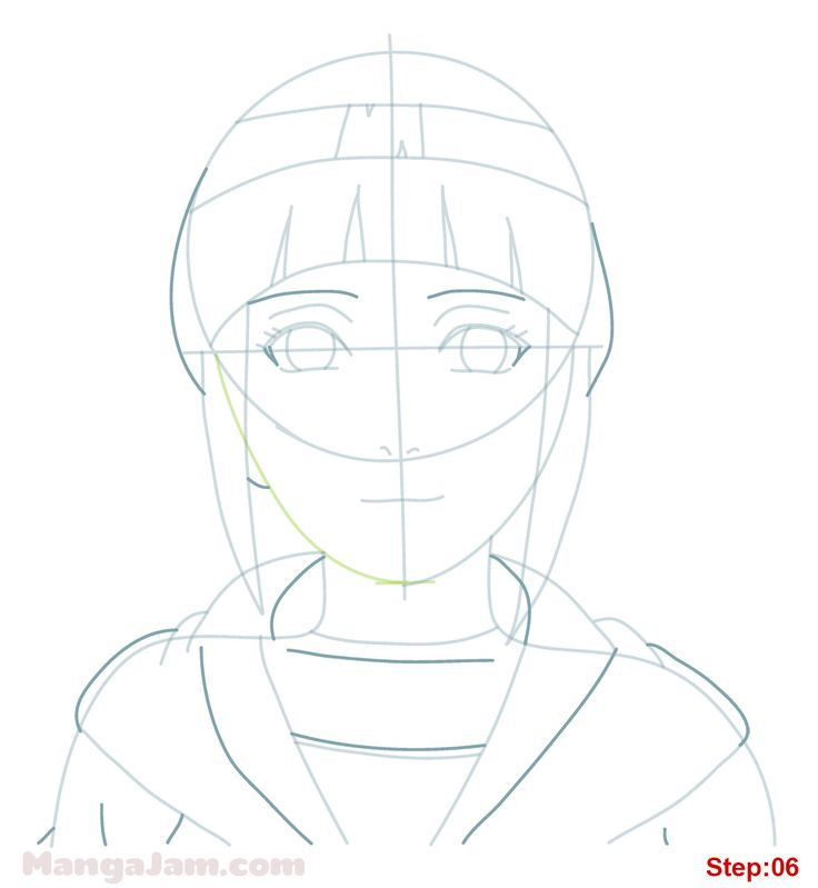 how to draw naruto shippuden face step by step