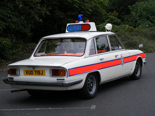 British classic Triumph white 2000 2500 2.5pi 70's old police car by nickj.taylor, via Flickr