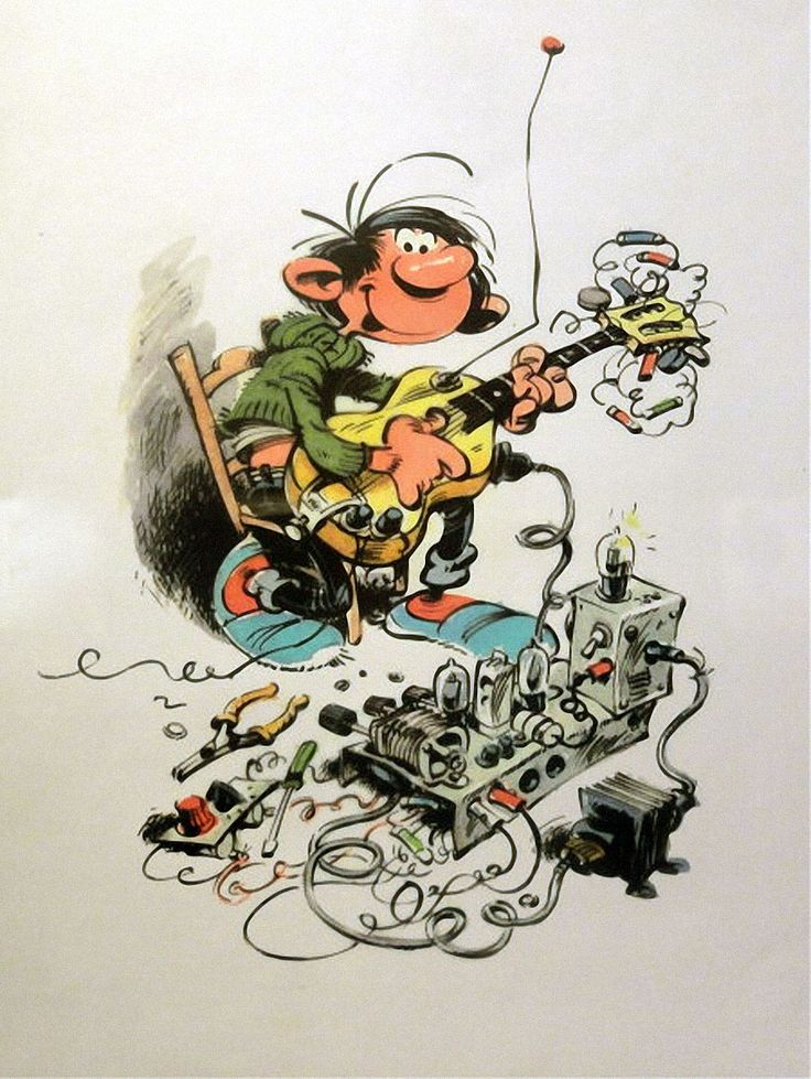 "André Franquin's Gaston Lagaffe (""Guust Flater"" in the Netherlands). I grew up reading these brilliantly drawn comic albums."