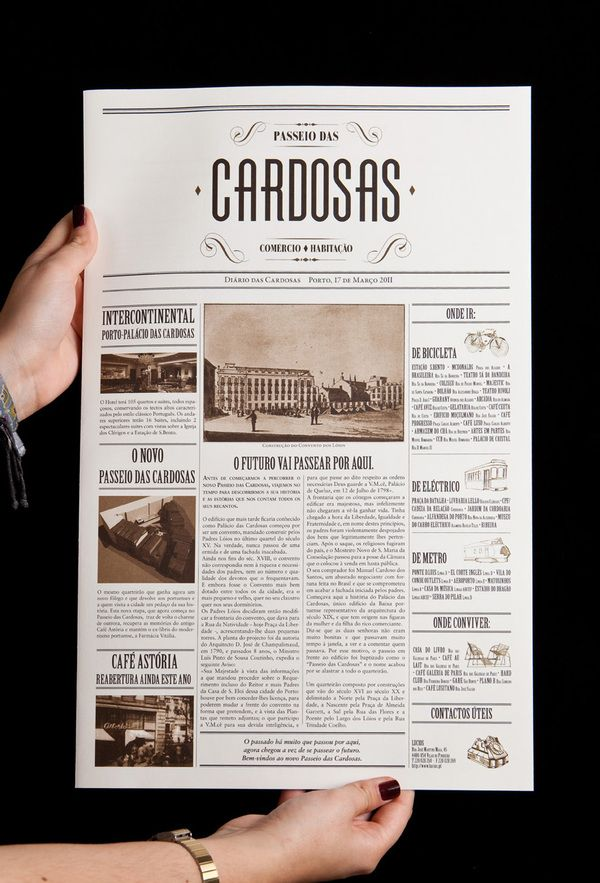 A newspaper layout