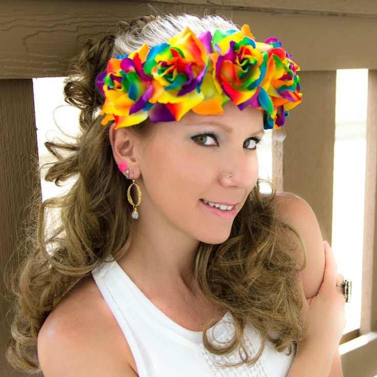 #LUVIT  Check-out our Large Dark Rainbow Rose #FlowerCrown  Perfect for #FestivalSeason  Available in our Specialty Crowns Section at www.KittyKatrina.com  #FlowerCrown #flowerheadband #flowerhalo #floralhalo #flowerchildren #flowerchild #ravelife #raveoutfit #raver #ravegirls #festival #festivalfashion #festivallife #edmgirls #edmfashion #edm #electricdaisycarnival #edc #edclasvegas #edclv #edcmexico #ultramusicfestival #ultra #pride #gaypride #lgbtpride #prideparade