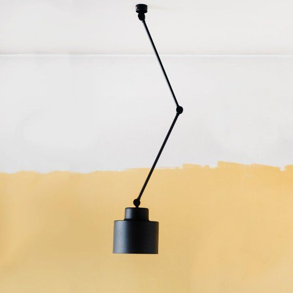 Ceiling Movable Light Lamp With Flexible Arms Midcentury Industrial Light Pendant Metal Lamp Living Room Lamp Bedroom Lamp Metal Lamp Lamps Living Room Lamp