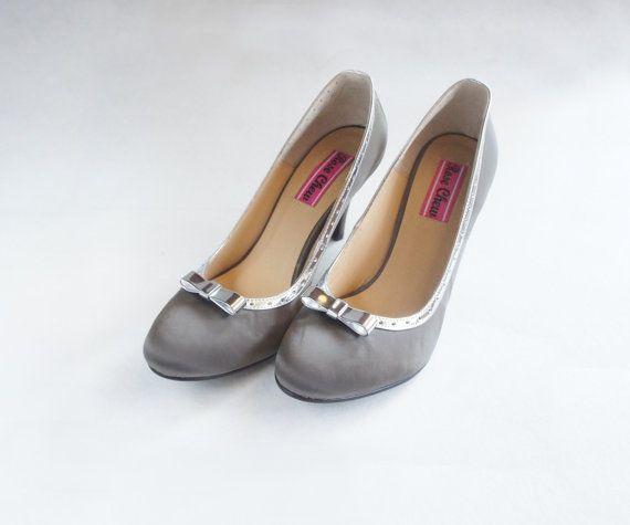 Grey wedding shoes black wedding silver wedding low mid