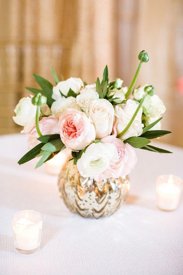 Blush and white florals | Workshop Hosting, Styling, Design + Florals: Hey Gorgeous Events - heygorgeousevents.com | Photography: Bradley James Photography - bradleyjamesphotography.com  Read More: http://www.stylemepretty.com/little-black-book-blog/2014/06/03/trouvaille-workshop-wedding-inspiration/