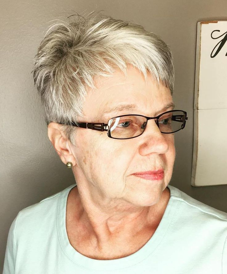 Short Grey Hairstyles With Glasses Cinemas 93