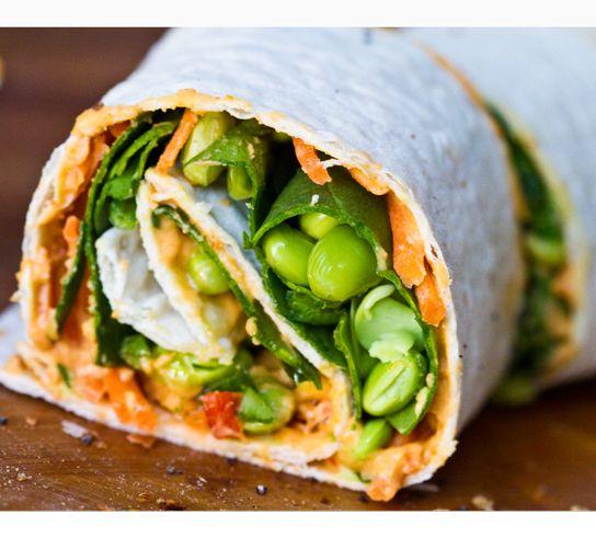 Easy Vegan Lunch - humous wrap