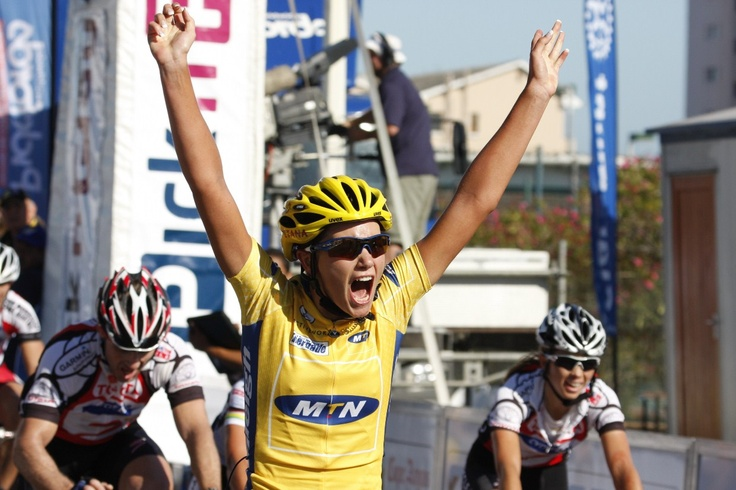 Cherise Taylor - female winner of the 2008 Cape Argus Pick n Pay Cycle Tour