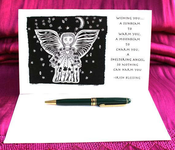 Angel Card with or without QuoteAngel by BellaDesignsByRosa, $5.00
