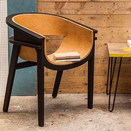 Corza Chair - Black, Cork