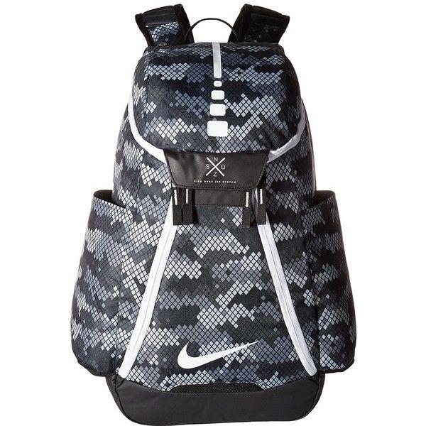 Nike Hoops Elite Max Air Backpack (Team Grey/Black/White) Backpack... (5,650 INR) ❤ liked on Polyvore featuring bags, backpacks, backpack bags, gray backpack, grey backpack, shoulder strap backpack and black and white backpack